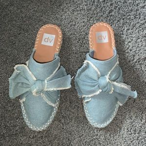 Jean bow mules